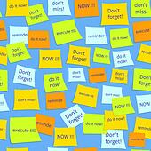 Seamless business sticky notes