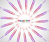 abstract colorful holi celebration pichkari festival background vector