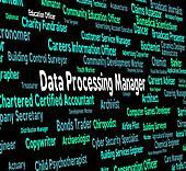 Data Processing Manager Represents Hiring Bytes And Word