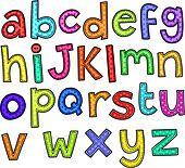 Alphabet Doodle Text