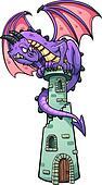 Dragon on tower