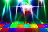 80s Disco Party Background