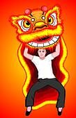 chinese dragon dance - barongsai