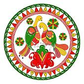 Russian ornament with birds