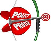 Policy Process Bow Arrow Words Targeting Aiming Full Compliance