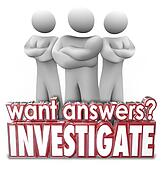 Want Answers Investigate 3d Words Serious People Arms Crossed