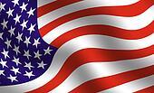American flag detail