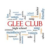 Glee Club Word Cloud Concept