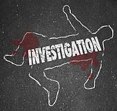 Investigation Crime Scene Chalk Outline Word