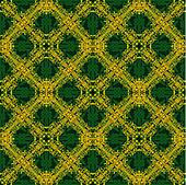 Seamless yellow and green pattern in arabic or muslim style