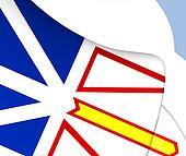 Flag of Newfoundland and Labrador, Canada.