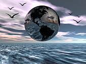 Earth, globe.