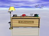 Librarian desk.