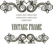 Vintage framing header and footer