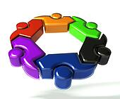 People teamwork in a hug 3D logo