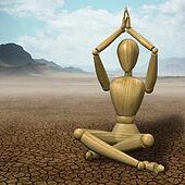 Mannequin practicing yoga