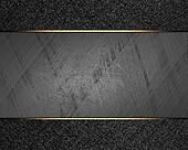 Background of metal with black edges. Design template. Template for site