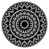 Tribal folk Aztec geometric pattern