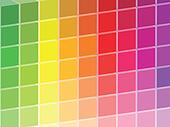 Rainbow Colored Squares Palette