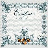Certificate design in vintage style