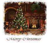 Merry Christmas Card, 3d CG