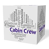 Cabin Crew Represents Airline Stewardess And Career