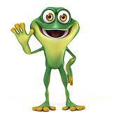 Frog say hello