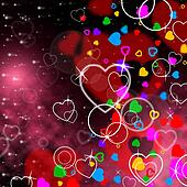 Background Heart Means Valentine's Day And Affection