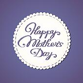 """Embroidered lettering """"Happy mother's day'."""