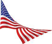 US Flag, Draped