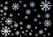 Falling snowflakes b
