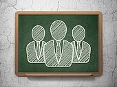 Business concept: Business People on chalkboard background