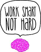 work smart not hard vector illustration