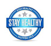 stay healthy seal illustration design