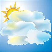Mostly Cloudy with Sun weather icon