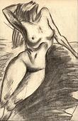 Woman naked torso