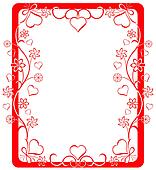Valentine frame, vector illustration.