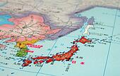 Japan-Nihon-map detail