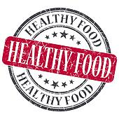 Healthy food red grunge textured vintage isolated stamp