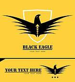 Stylized black eagle