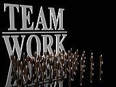 Team Work over black.