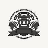 kettlebell and dumbbell logo