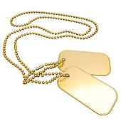 Gilded Dog Tags