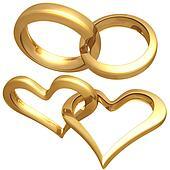 Gilded Heart Rings