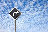 Traffic sign on the clouds