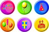 birthday buttons