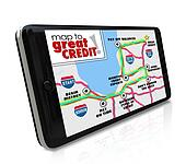 Map to Great Credit Score Rating Payment History Navigation Smar