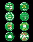 St Patrick badge