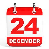 Calendar. 24 December.
