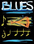 concept blues and trumpet